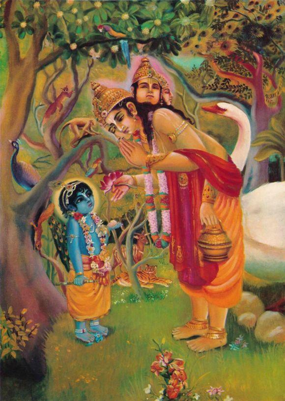 Brahma Prays to Krishna 2